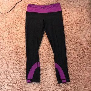 Black and Purple Lululemon Leggings